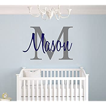 Custom Name U0026 Initial   Premium Series   Baby Boy   Wall Decal Nursery For  Home