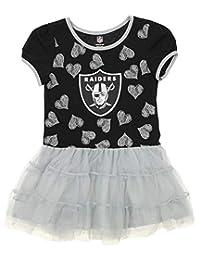 "Oakland Raiders Black Girls Kids""Love to Dance"" Tutu Dress"