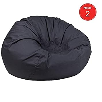 Pleasant Amazon Com Flash Furniture Oversized Solid Gray Bean Bag Andrewgaddart Wooden Chair Designs For Living Room Andrewgaddartcom