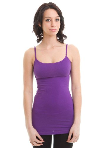 Cami Camisole Built in Shelf BRA Adjustable Spaghetti Strap Tank ...