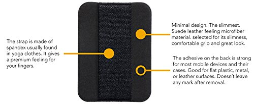 nobiggi Finger Strap (3-Pack) - Save 20% - Ultrathin - Comfortable Elastic Strap and Anti-Slip Faux Suede Leather Patch - Extend - coolthings.us