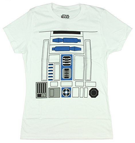 [Star Wars I Am R2-D2 Juniors Costume T-shirt (Medium)] (Luke Skywalker Dark Side Costume)