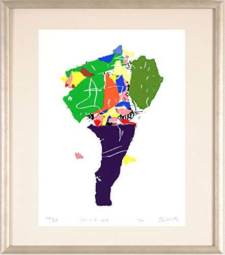 現代アート 絵画 抽象画 現代美術 シルクスクリーン 版画 島州一 「SP-C,D 164」 額付き   B07QWR7K2S