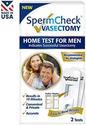 Spermcheck Vasectomy Home Sperm Test Kit   Indicates Successful Vasectomy  Convenient, Private and Accurate   Easy to Read   FDA-Cleared   Two Tests per Kit   FSA/HSA Eligible