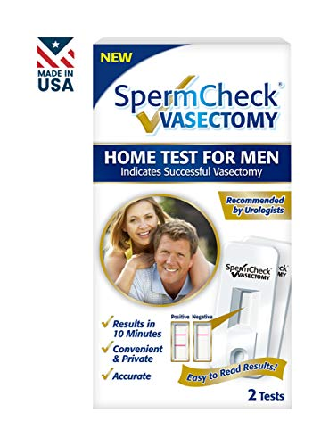 Spermcheck Vasectomy Home Sperm Test Kit | Indicates Successful Vasectomy| Convenient, Private and Accurate | Easy to Read | FDA-cleared | Two Tests per Kit | FSA/HSA ()