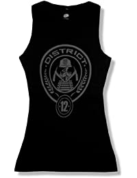 """The Hunger Games """"District 12"""" Black Tank Top New Women's"""