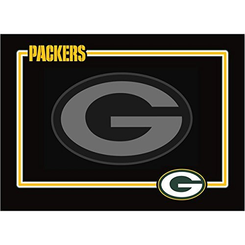 Green Bay Packers Premium Neoprene Pet Dog Bowl Mat Placement Non-Skid from NFL