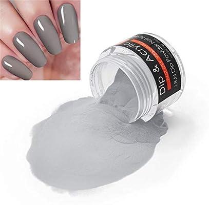 I.B.NPolvo de acrílico 2 en 1 serie gris (vitamina y calcio añadidos) I.B.N de secado rápido en polvo, 1 onza/28 g, no necesita secador de lámpara de uñas (44-56), , , 49,, 2.4692[set de ]: Amazon.es: Belleza