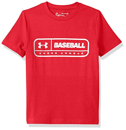 Under Armour Boys IL Graphic S/Lockertag, Red (600)/Metallic Silver, Youth Large