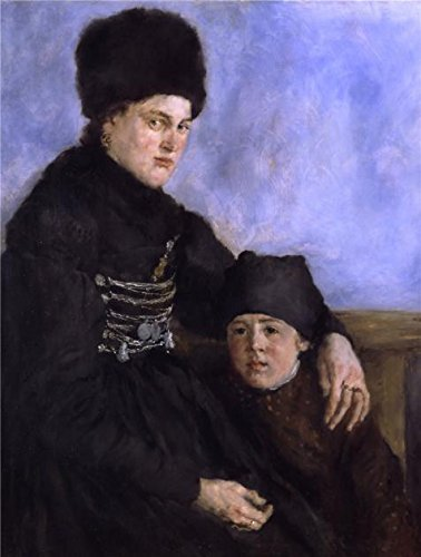 Oil Painting 'Wilhelm Leibl -Dachau Woman And Child,1874' Printing On High Quality Polyster Canvas , 24x32 Inch / 61x81 Cm ,the Best Nursery Gallery Art And Home Gallery Art And (Silent Movie Couple Costume)