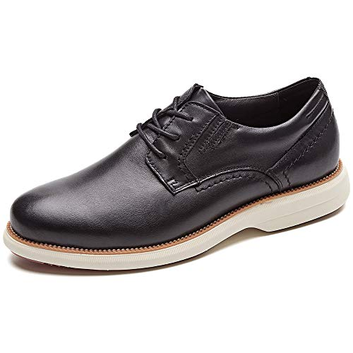 LAOKS Men's Brogue Wingtip Oxford Dress Shoes for Travel Business Casual Lace Up Black