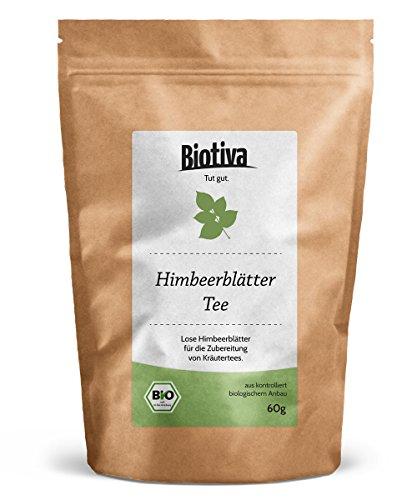 Himbeerblätter-Tee (60g, Bio) | Geburtsvorbereitung | sehr große Blätter | Bio-Zertifiziert - von Hebammen empfohlen