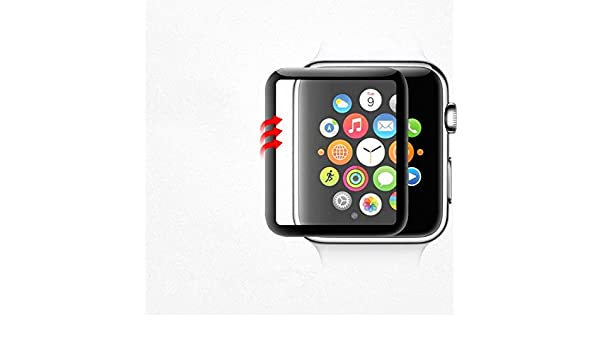 Amazon.com: BATOP Apple Watch Screen Protector || 3D mesh Tempered Film Glass Screen Protector for Apple Watch 38mm 42 mm Tempered Glass Protective Cover ...