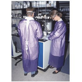 Ansell Blue Vinyl Coat Apron, Size: Small - 56-910-S - EACH