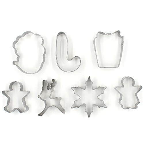 Cookie Cutter Set of 7 (Cut Out Christmas Cookies)