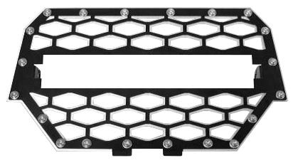 ModQuad Front Grill without 10in. Light Bar - Black/Silver RZR-FGL-1K-BLK