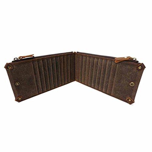 Imperméable pour Long Style1 Portefeuille en Style2 Toile HAOXIAOZI Vintage Homme ZvFB6qwx