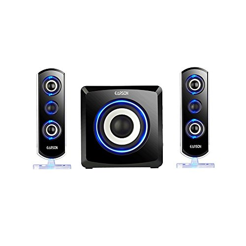 Icopter 2.1 Computer Speaker with Subwoofer, Best for Music, Movies, Multimedia PC and Gaming Systems