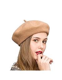 Klong Wool Beret Hat French Style Women Solid Color Thicken Warm Multiple Wear Ways
