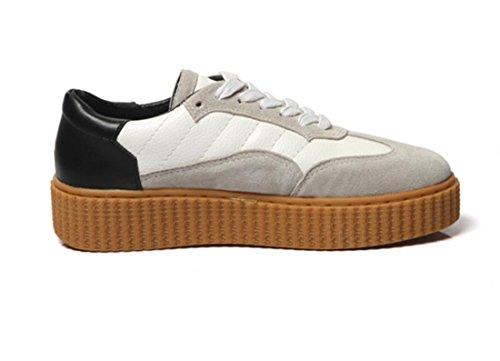 Scarpe YCMDM nuovo svago Sport sandali spessi rotonde delle donne testa di scarpe , light grey , 37