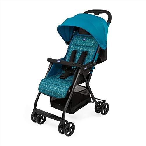 Chicco Ohlala 2 - Silla de paseo ultra ligera y compacta, facil conduccion, solo pesa 3,8 kg, color rosa estampado azul verdoso (Digital)