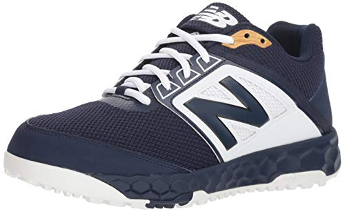 New Balance Men's 3000v4 Turf Baseball Shoe, Navy/White, 11 D US