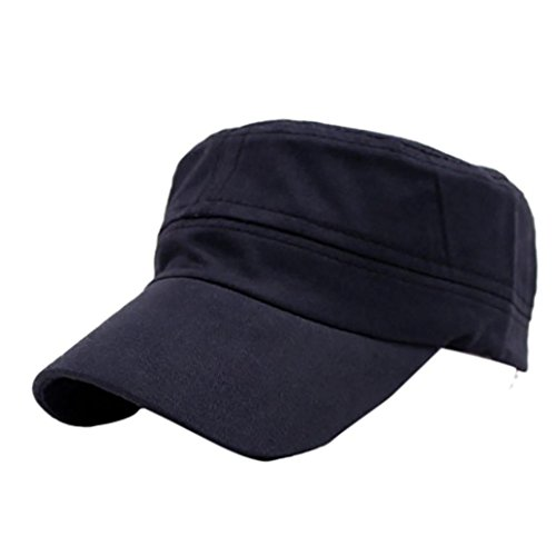 Baseball Hat for Men and Women, Big Sale! Iuhan Adjustable Cap Solid Hats Nepalese Cap Army Fisherman Hat (Navy Fisherman Style Velcro)
