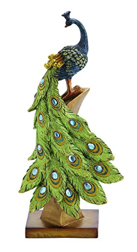 Benzara Multihued Elegant Peacock Table Decor
