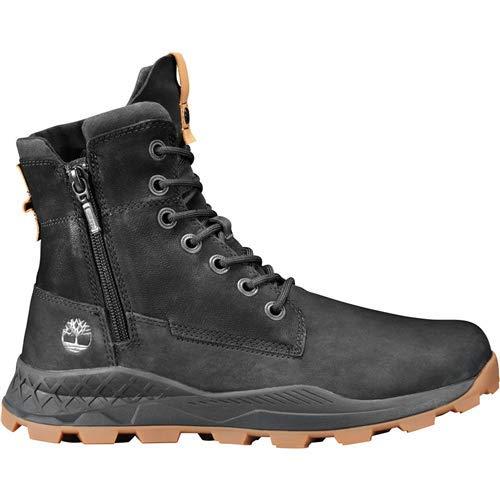 Timberland Men's Brooklyn Side Zip Boot, Black Nubuck, Size 12.0 (Best High Top Shoes 2019)