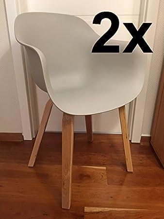 Wunderbar ARIMO Stuhl Hellgrau, Pastellgrau, Puderfarben, Set 2 Stühle,  Esszimmerstühle, Wohnzimmer Möbel