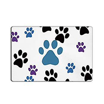 CHARMHOME Dog Paw Prints Doormat 23.6(L) x 15.7(W)