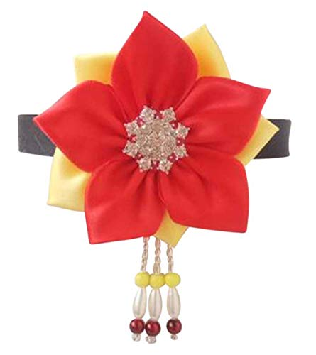 CRB Fashion Korean Hanbok Hair Accessorry Costume Traditional Hair Clip Headband (Red)