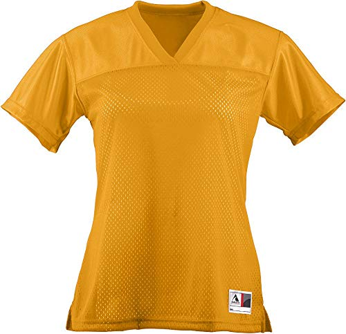 Augusta Sportswear Augusta Ladies Junior Fit Replica Football Tee, Gold, Large ()