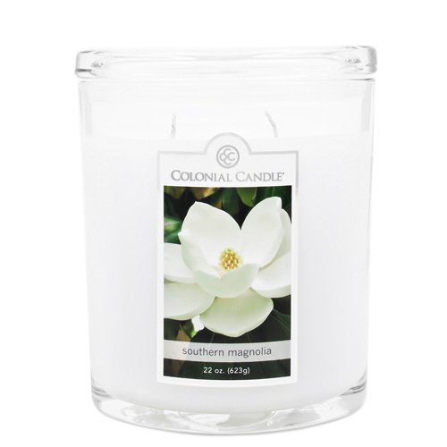 Colonial Candle 22-Ounce Scented Oval Jar Candle, Southern Magnolia