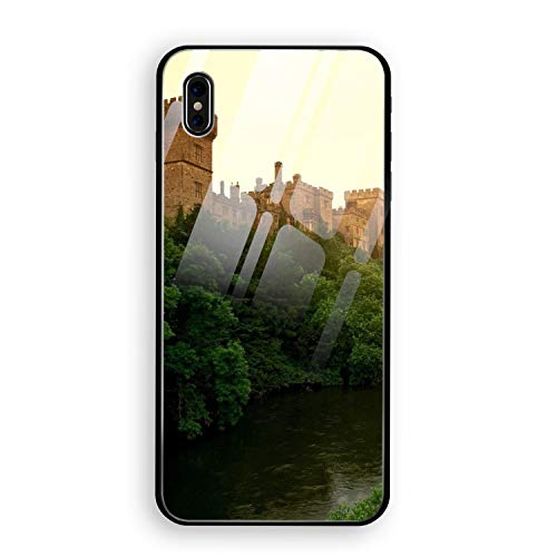 Ireland Lismore Castle - Lismore Castle County Waterford Ireland iPhone X Case, Thin Tempered Glass Back Cover Soft Silicone Rubber Bumper Frame Support Wireless Charging iPhone X