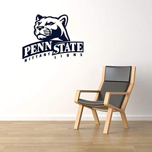 Wall Decor Penn State University Sports Decal Nittany Lions Team Vinyl Wall Sticker NCAA Football Logo Symbol Print College Athletic Fans Mural ()