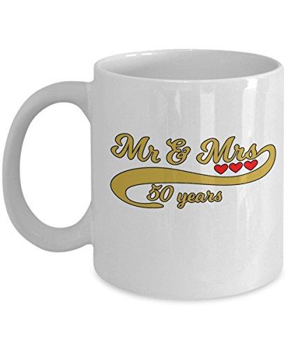 50th Golden Anniversary Gift Present Coffee Mug