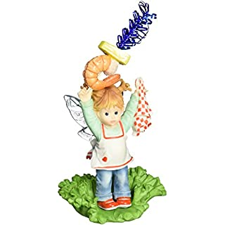 Enesco My Little Kitchen Fairies Fairie With Shrimp Appetizers Figurine,  4 Inch