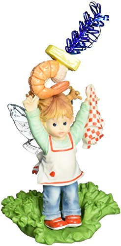 Enesco My Little Kitchen Fairies Fairie With Shrimp Appetizers Figurine, 4-Inch
