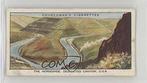 The Horseshoe, Deschutes Canyon, USA (Trading Card) 1937 Churchman's Wonderful Railway Travel - Tobacco [Base] - Usa 1937