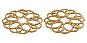Rachael Ray Silicone Heat Resistant Multi-Use Medallion Design Trivet