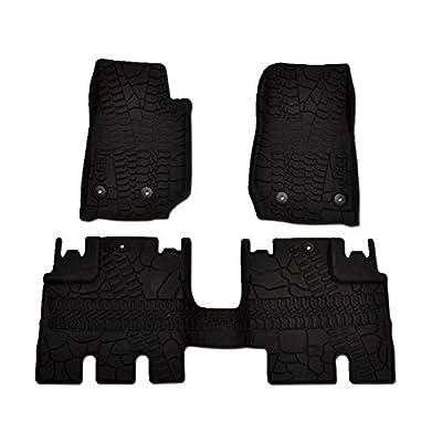 Mopar 82213860 Jeep Wrangler Unlimited 4-Door Black All-Weather 3-Piece Floor Mat Set: Automotive [5Bkhe0106958]