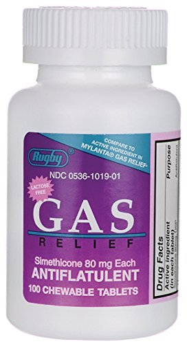 (Gas Relief 80 mg 100 Chewables Pack of 6)