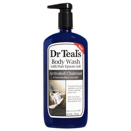 Dr Teal's Activated Charcoal & Lava Body Wash, 24 oz (Pack of 4)