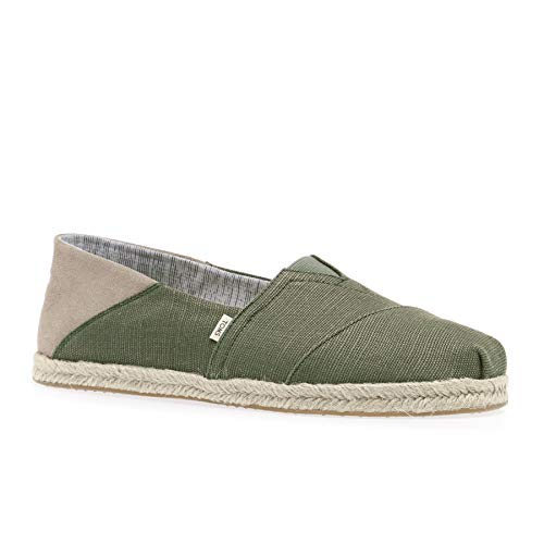 TOMS Men's Alpargata Convertible on Rope Lichen Green Heritage Canvas On Rope Convertible 8 D US]()