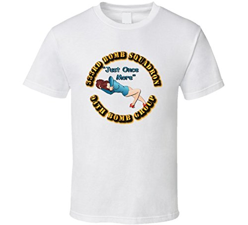 MEDIUM - AAC - 333rd Bomb Squadron - 94BG - Just Once More T Shirt - White (Operation Storm 333)
