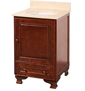 Foremost Hfna2121 Hartford 22 Vanity Combo With Marble Vanity Top Undermount Sink Walnut