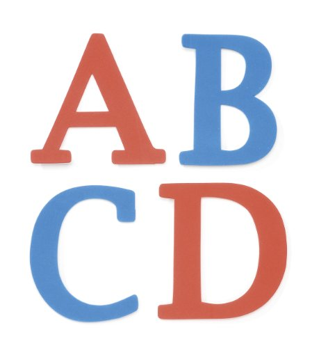 Darice 106-3153 110-Pack Foamies Alphabet Sticker Bag, Traditional Font, 4-Inch