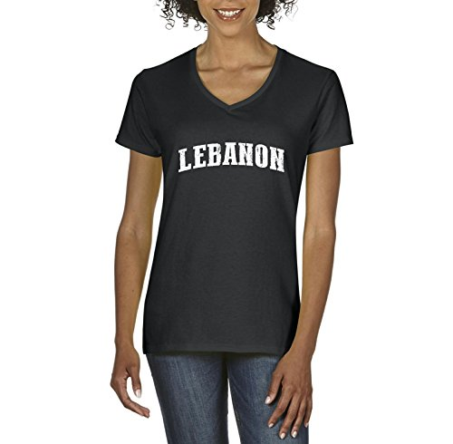 Lebanon T-Shirt Lebanon Lebanon Women's V-Neck T-Shirt - Lebanon List Clothing