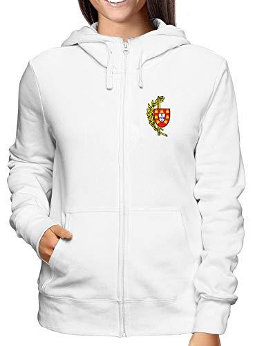 shirtshock Portugal Bianca Zip Comandos Tm0405 Donna T Militari Felpa 7xdpO7q